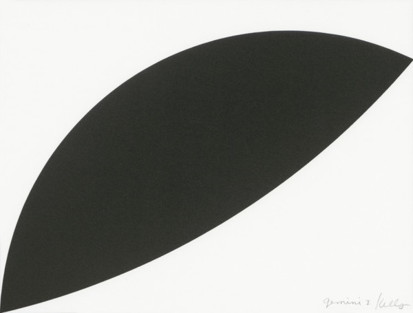 Two Curves 2011, lithograph on Rives BFK paper edition of 100, this edition 81/150 31 x 37.3 cm (framed size) Provenance: from the collection of Ellsworth Kelly
