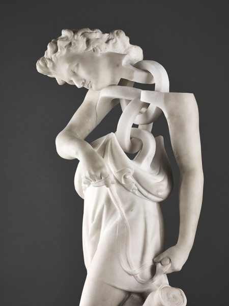 David (detail) 2013 19th Century marble figure with further carving 70 x 30 x 30 cm