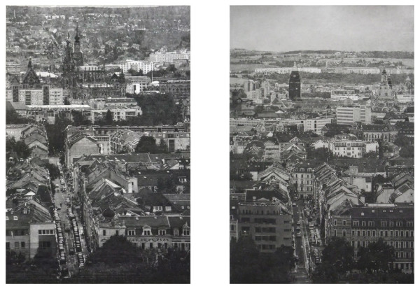 Dresden on Flickr 2012 graphite and acrylic medium on Bristol Board 63.2 x 41.9 cm (page size)