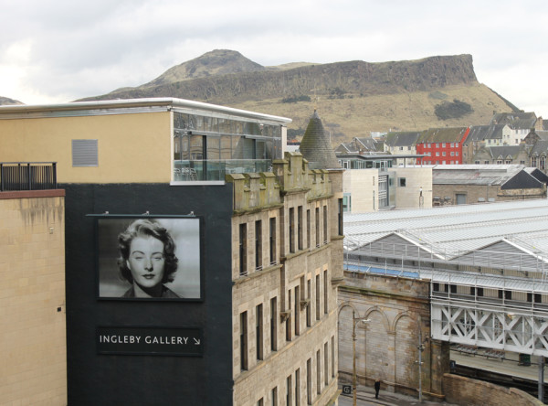 View of John Stezaker's Billboard for Edinburgh installation Blind, 2013 Ingleby Gallery, Edinburgh
