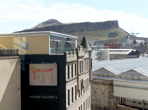 View of Peter Doig's Billboard for Edinburgh installation Sailor Bar, 2013 Ingleby Gallery, Edinburgh