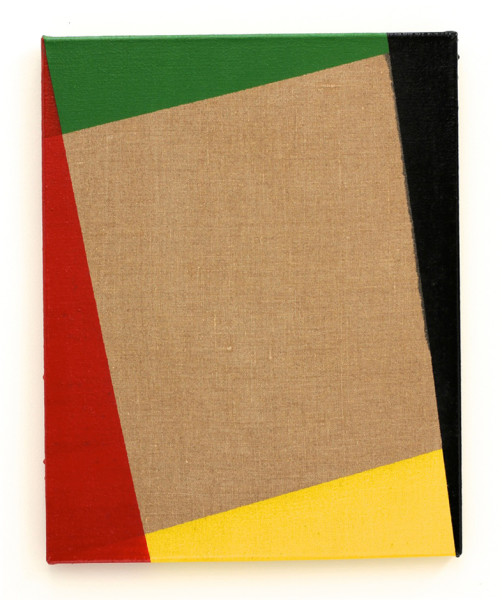 Jeff McMillan Demonstration Painting (No 2), 2013 gloss paint on linen 51 x 40 cm