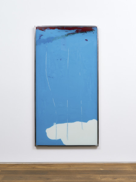 Kevin Harman Obscure Outing I, 2014 household paint, double-glazing unit, steel frame 192.5 x 102.2 x 5.5 cm