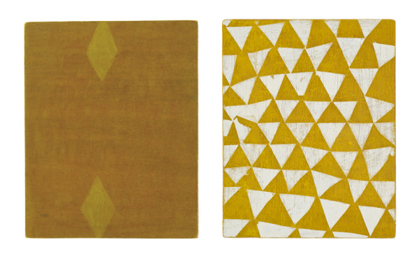 Paul Keir Untitled, 2013 acrylic and gesso on plywood (two parts) 25.5 x 20.2 cm each part