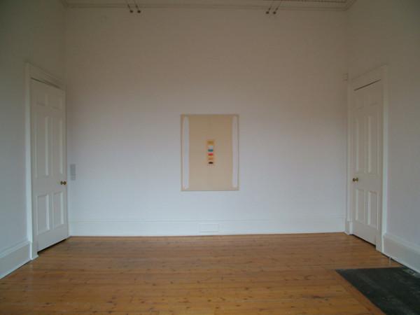 Two Columns 2004 acrylic on canvas 123cm x 94cm