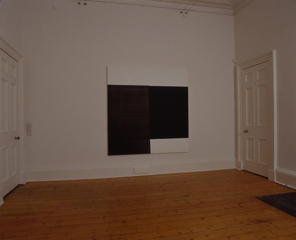 Exposed Painting Scheveningen Black 2004 oil on canvas 174.5cm x 167.5 cm