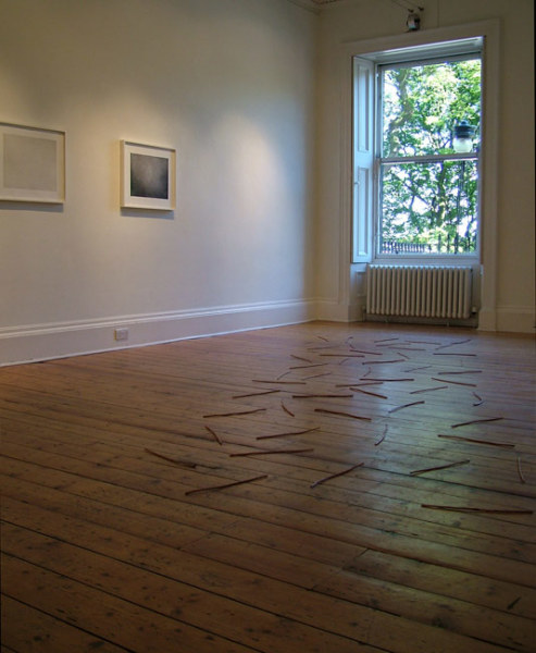 Richard Long & Vija Celmins installed at Ingleby Gallery