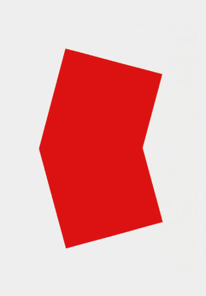 Red 2001 colour lithograph, edition of 45 [published by Gemini Gel] 128.5 x 101.5cm [framed]