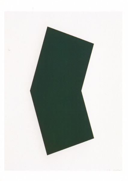 Green 2001 colour lithograph, edition of 45 [published by Gemini Gel] 128.5 x 101cm [framed]
