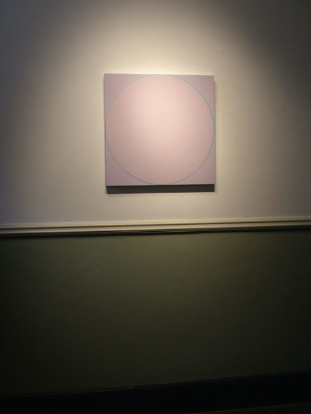Untitled Circle Painting: Pale Lilac / Pale Blue/ Pale Lilac 2005 household gloss paint on MDF panel 61cm x 61cm