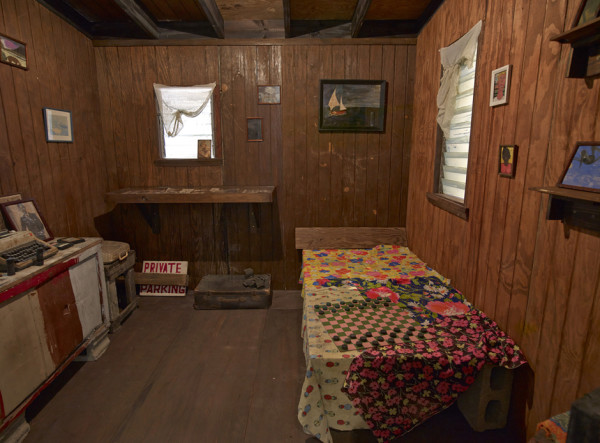 Recreation of Frank Walter's Antiguan home installed at Ingleby Gallery