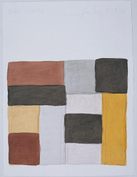 Black Corner, 2.13.05 2005 watercolour on paper 76.2 x 55.9 cm (paper size)