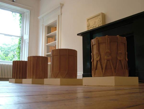 Column to Drum 1990 sandstone, with Jamie Sargeant 40.3 x 39cm each