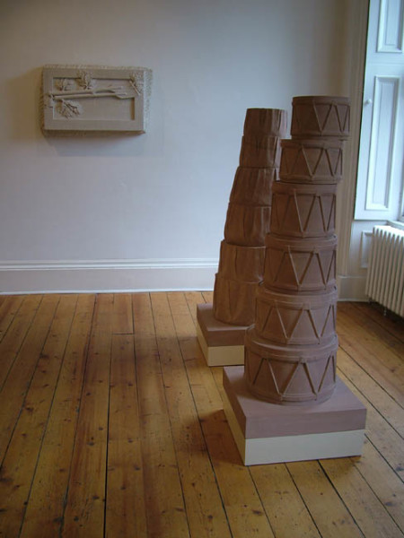 Classical / Neoclassical 1993 sandstone, with John Sellman 142 x 53 x 53 cm each