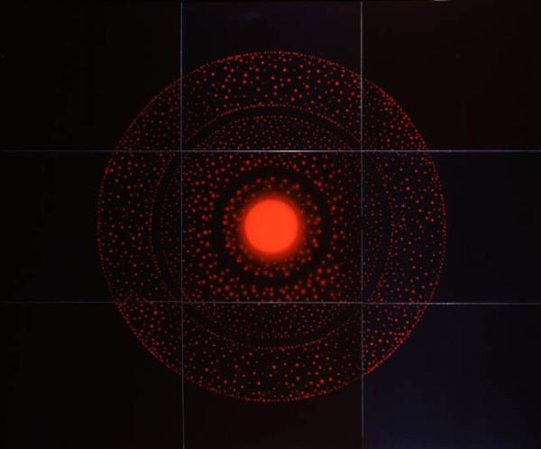 Exposure IV (9 hours of light) July (3) 2005 light, water, dye destruction print 153 x 183 cm