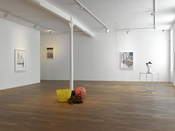 Installation view of the Charles Avery solo exhibition The People and Things of Onomatopoeia Ingleby Gallery, Edinburgh