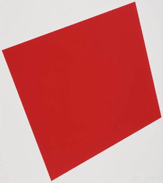 Untitled (Red) 2005 1 colour lithograph, signed and numbered edition of 50 33 x 30