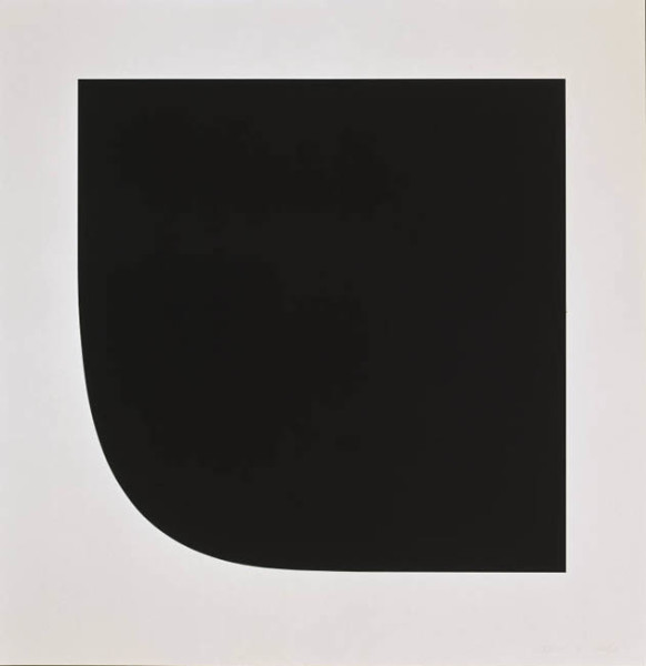 Black Variation 1975 1 colour lithograph, signed and numbered edition of 25 39.25 x 38.5
