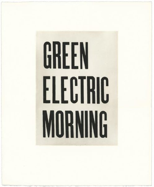 Green electric morning 2006 etching on Fabriano Artistico 300gsm paper, edition of 15 - to view images of all prints in the folio please see our Bookshop and Editions section of the website 46 x 38cm (paper size)