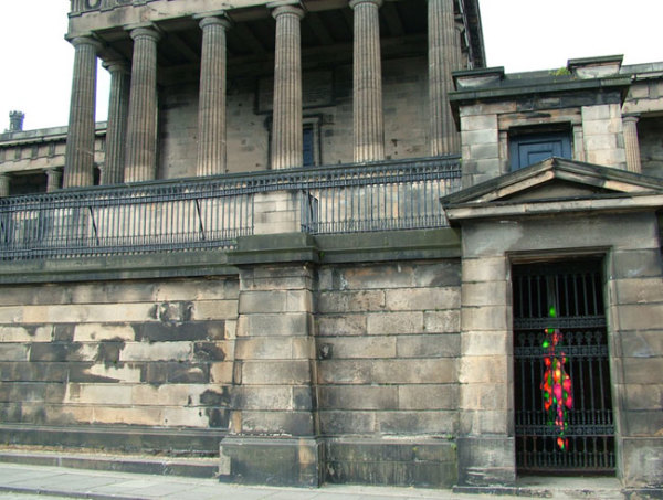 Candela 6 installed at the Old Royal High School, Edinburgh 2005 90 plastic containers, low energy lamps, cable variable