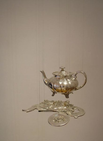 Alter Ego (teapot with reflection) 2003 smashed silver pieces