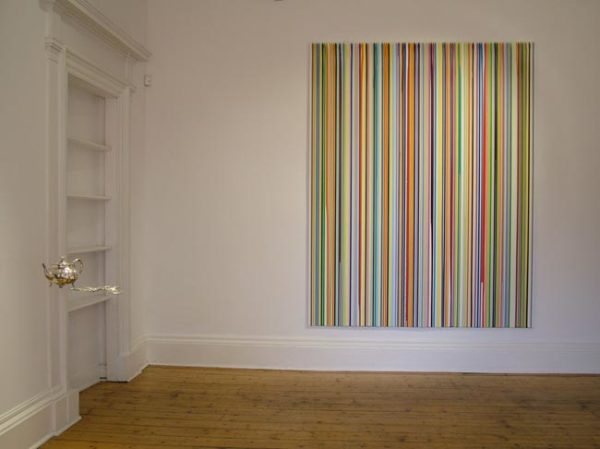 Poured Lines: Primer 2006 water-based paints on aluminium 250 x 200 cm