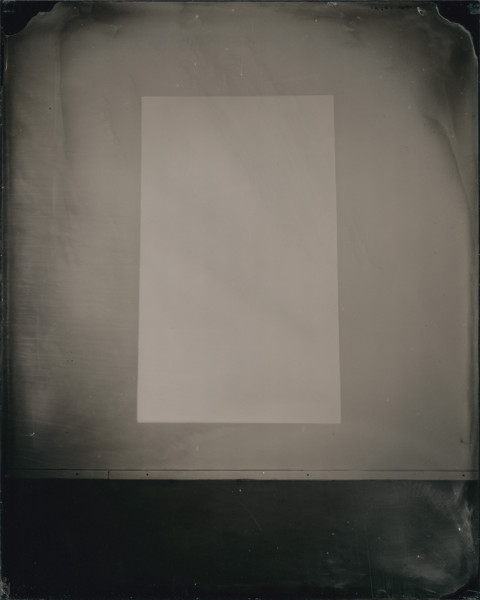 White light 2013 wet-collodion on acrylic sheet 25 x 20 cm (plate size); 44.8 x 33.8 cm (framed size)