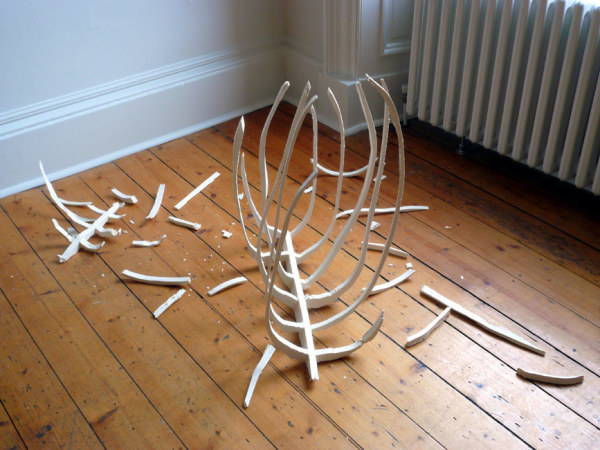 Carcasses 2001-2007 Found wood, hot glue, screws and vinyl emulsion Dimensions variable