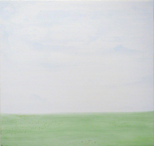 In mourning of a passing on the North Montana Plains 2007 watercolour and emulsion on found board 41.8 x 43.9cm