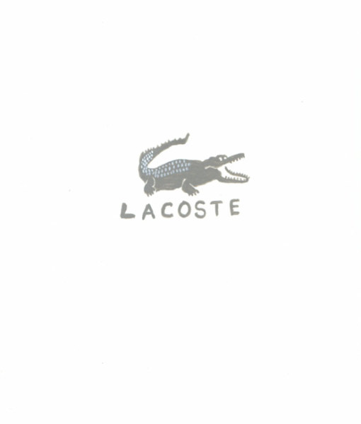 Lacoste 27 October 2003 mixed media on paper 24 x 21.5 cm (framed)