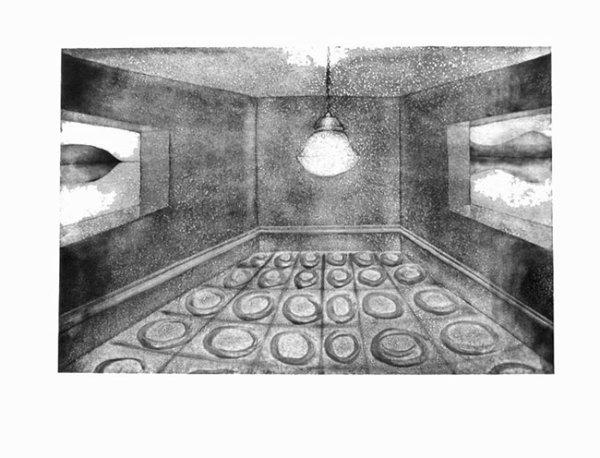 Horizon 1990 etching, edition of 60 118 x 91 cm