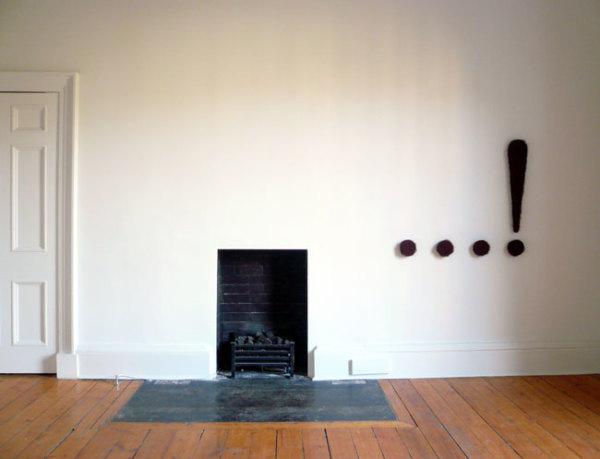 Untitled (Dat-Dat-Dat-Dah) 2007 rubberized horsehair, wood and spraypaint 96.5 x 105.4 x 5.1 cm (five parts)