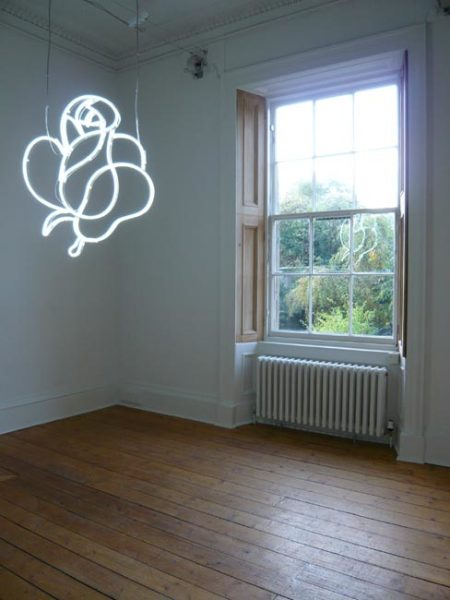 Untitled (white rose) 2007 neon, edition 2 of 3 93 x 83 cm
