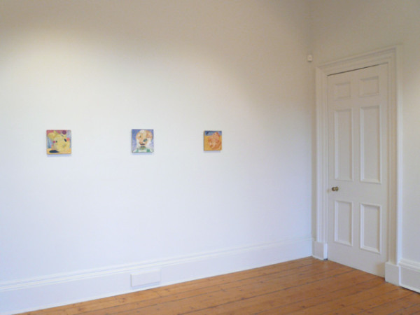 "Installation view - Brian Catling & the head of ""Bobby Awl"""