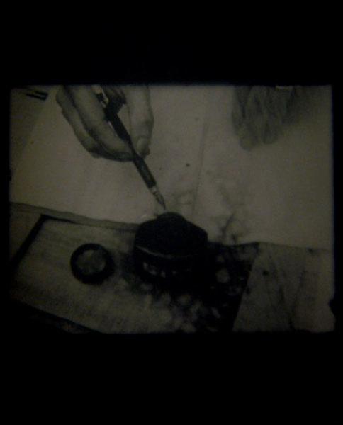 Projet pour un text, La Pluie 1969 16mm flim, 2 mins duration Collection Centre Georges Pompidou / Estate of Marcel Broodthaers