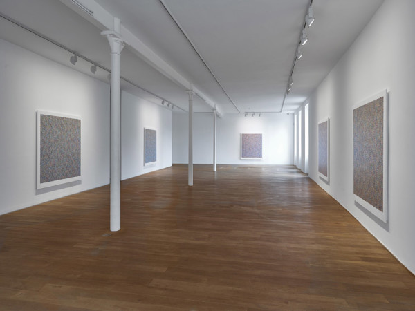 Installation view of the solo exhibition Binary Rhythm: Paintings 2010 - 2015 Ingleby Gallery, Edinburgh (10 October - 21 November 2015)