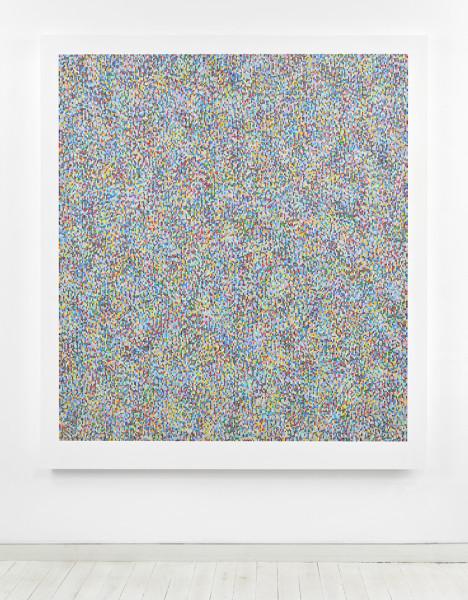 Binary Rhythm (VIII) 2014-2015 oil and wax on wood 189.5 x 169 cm