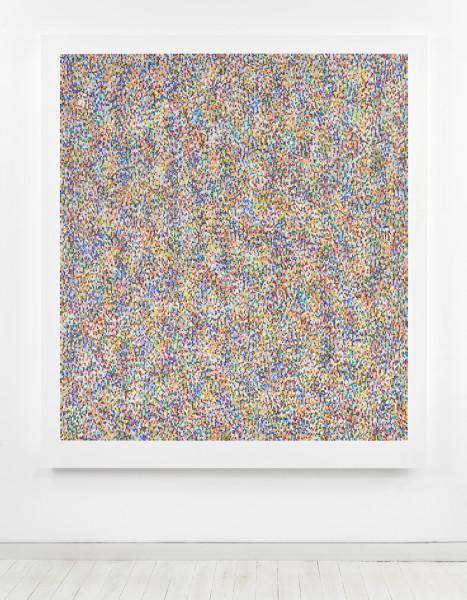Binary Rhythm (V) 2012-13 oil and wax on wood 189.5 x 169 cm