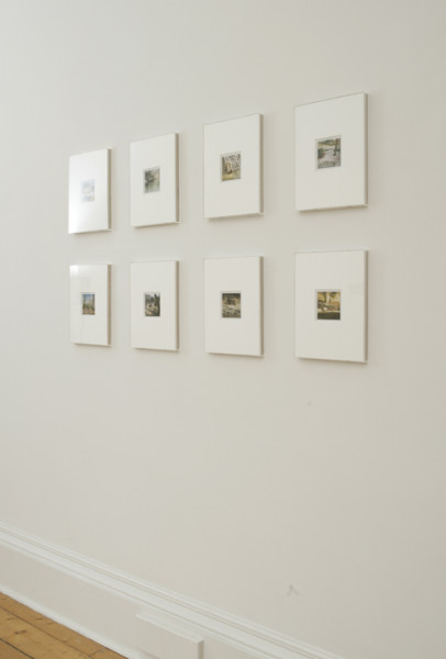 Zoo Polaroids (Barcelona) - installation View at Ingleby Gallery 2008 polaroid photographs 31 x 23.5 cm (individual framed size)