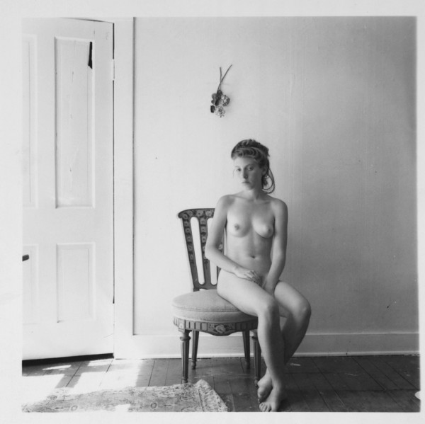 Francesca Woodman Untitled, Boulder, Colorado, 1978 gelatin silver estate print edition of 40 9.7 x 9.7 cm (image size); 38.5 x 39.2 cm (framed size)