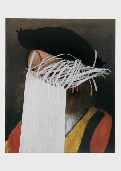 Postcard (Portrait of a Boy) 2008 cut found postcard 14.5 x 10 cm card size