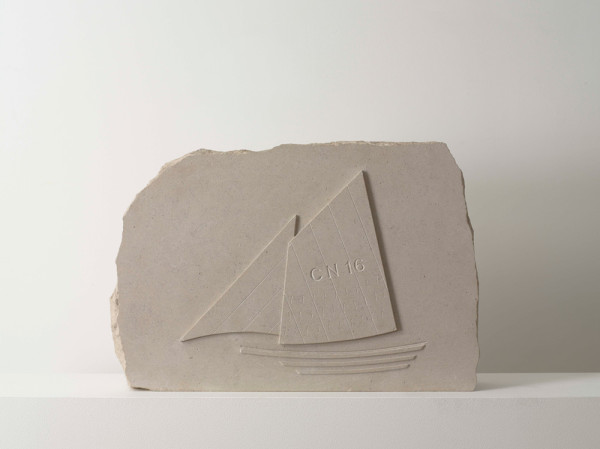 Sails CN16 1998 with Andrew Whittle, stone 37 x 55 x 10cm