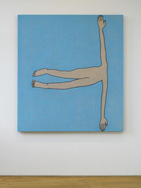 Fallen Man 2009 oil on flax canvas 168 x 152.5 cm