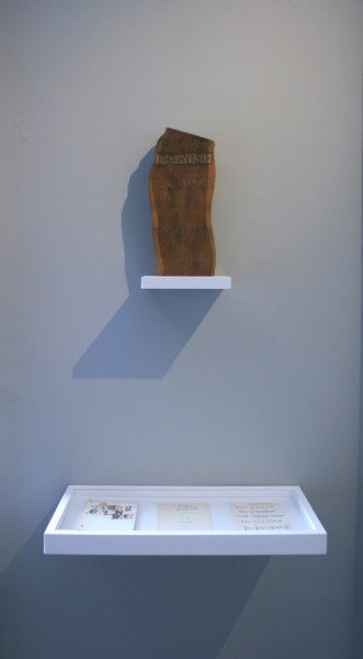 Ian Hamilton Finlay Five Fore-and Afters circa 1970 Carved and polished yew with a copy of Sailors's Calendar, 1971