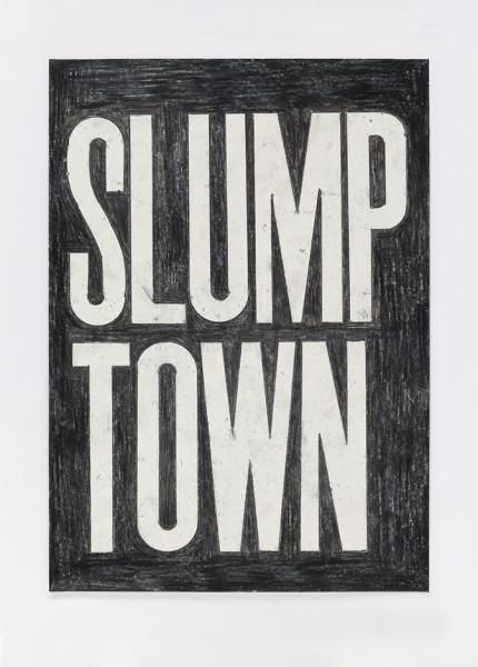 David Austen Untitled (slump town) 10.3.16, 2016 coloured pencil on paper 36.6 x 28 cm (framed)