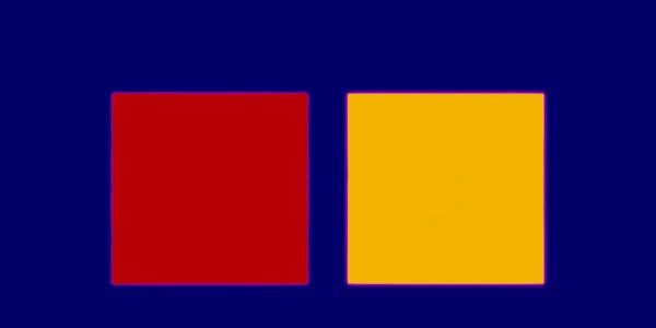 Blue Yellow Red Summer 2009 light, water, Lamda print | Edition of 3 144 x 265 cm framed