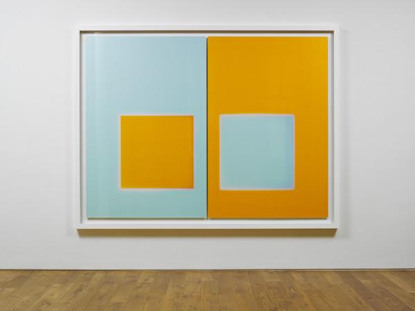 Orange Aqua. Late Summer 2009 light, water, Lamda Print (two panels) 204.1 x 266.7 cm framed