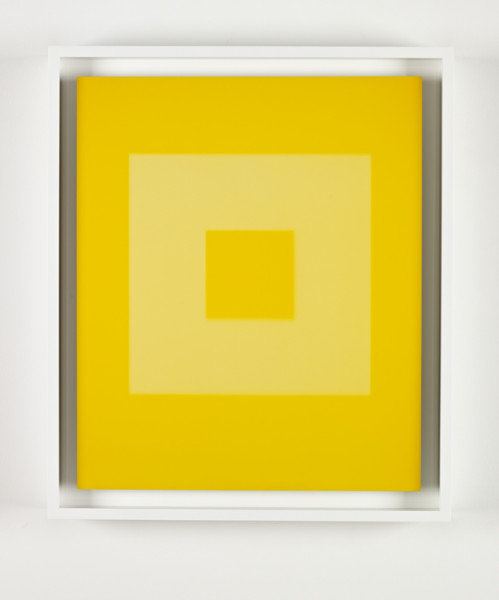 Year Two - Gold (March) 2 2007 light, oil, dye destruction print 54.5 x 46.5 cm framed