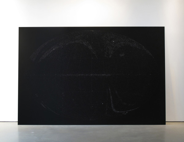 Katie Paterson All the Dead Stars 2009 Laser etched anodised aluminium 200 x 300 cm
