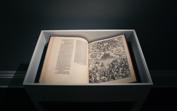 Installation view of Albrecht Dürer The Apocalypse, 1511 Ingleby, Edinburgh